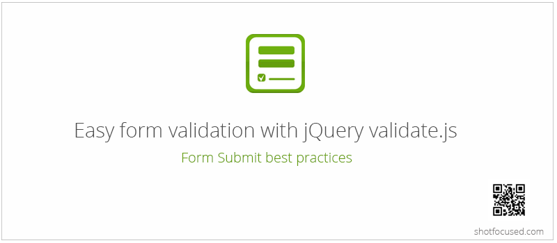 form validation with validate.js
