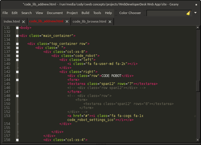 how to customize geany code editor theme image.